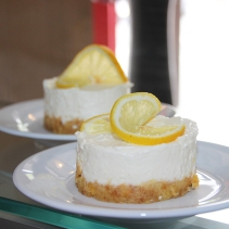 Cheesecake au citron.