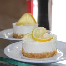 Cheesecake au citron.